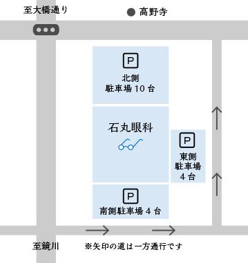 石丸眼科駐車スペース
